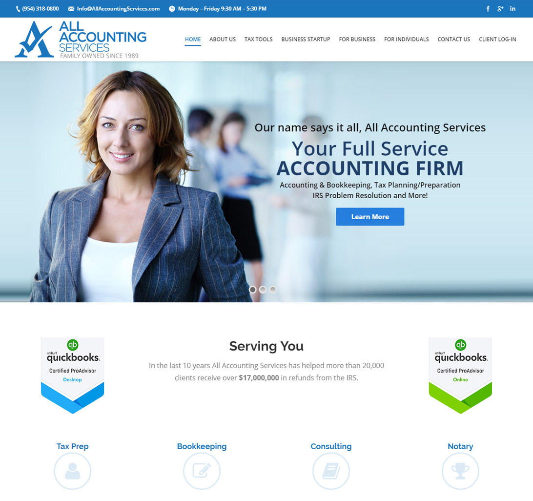 Accountant Website Design & Accounting Firm Internet Marketing ...